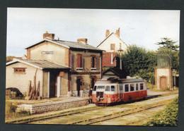 """Carte-photo Moderne """"Tramway Des Chemins De Fer Départementaux Ligne Montereau - Egreville - Chateau-Landon - Années 50"""" - Tram"""