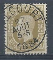 N°32, 25c Olive Sc WALCOURT /1884 - 1884-1891 Leopold II
