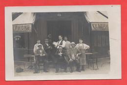 94 - Vincennes - Carte Photo Du Café Au 5 Rue Des Abattoirs - Vincennes