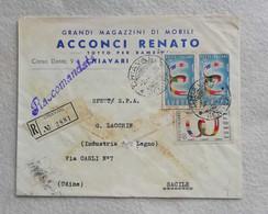 """Busta Di Lettera Raccomandata Con Testata """"Acconci Renato"""" Grandi Magazzini Di Mobili Chiavari Per Sacile 1958 - 1946-60: Marcofilie"""