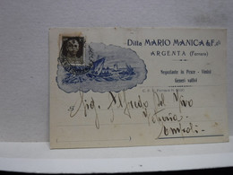 ARGENTA  -- FERRARA -- DITTA MARIO MANICA  & FIGLI  -- NEGOZIANTE  IN PESCE - Ferrara