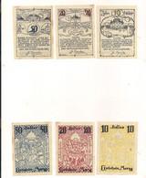 3 Notgeldscheine Morzg 10, 20 + 50 H - Autriche