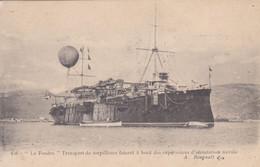 La Foudre Transport De Torpilleurs Faisant à Bord Des Expériences D'aérostation Navale Ballon - Warships