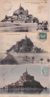 MONT ST MICHEL - 3 Cartes Anciennes - Le Mont Saint Michel