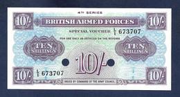 British Armed Forced 10 Shillings 1962 PM35 UNC - Forze Armate Britanniche & Docuementi Speciali
