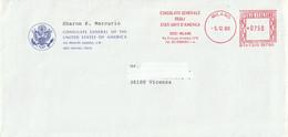 Italia - E.M.A. - Milano - Consolato Generale Degli Stati Uniti D'America - - Affrancature Meccaniche Rosse (EMA)