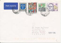 Slovakia Cover Sent To Denmark - Cartas