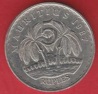 MAURITANIE 5 RUPEES 1987 - Mauritania