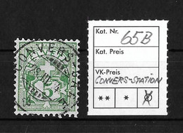 1894 - 1899 ZIFFERMUSTER → Kontrollzeichen Form B Faserpapier   ►SBK-65B / Rundstempel CONVERS-STATION ►RAR◄ - Gebruikt