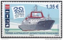 TAAF 2015 Yvert 752 Neuf ** Cote (2017) 2.70 Euro 20 Ans Navire Marion Dufresne - Ongebruikt