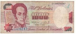 VENEZUELA  1'000 Bolivares  P76a    Dated  Marzo-17-1994 - Venezuela