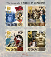 Togo 2011 MNH - 190th Anniversary Of Napoleon Bonaparte (1760-1821). YT 2560-2563, Mi 3999-4002 - Togo (1960-...)