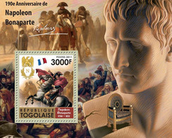 Togo 2011 MNH - 190th Anniversary Of Napoleon Bonaparte (1760-1821). YT 493, Mi 4003/Bl.610 - Togo (1960-...)