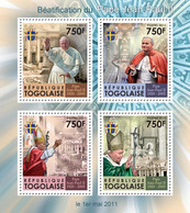 Togo 2011 MNH - Beatification Of Pope John Paul II. YT 2580-2583, Mi 4069-4072 - Togo (1960-...)