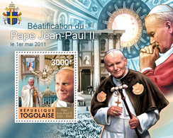 Togo 2011 MNH - Beatification Of Pope John Paul II. YT 498, Mi 4073/Bl.624 - Togo (1960-...)