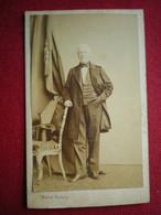 PHOTO CDV - Homme Costume  ,Photo (19em) Walter Damry à Liège (Belgique). - Anonieme Personen