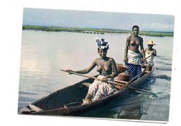 Mini Carte De Voeux 1967  Afrique Seins Nus - Other