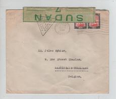 648PR/ Sudan WW2 Cover Khartoum 1940 Passed By Censor + Strip Sudan 7 Censorship T.P.O. Shellal-Haifa > Belgium - Seconda Guerra Mondiale