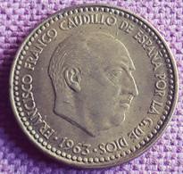 SPANJE : 1 PESETA  1963 * 63  KM 775 XF+ Scarce Quality - [ 4] 1939-1947 : Gobierno Nacionalista