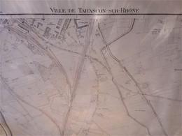 (13) Tarascon-  Cadastre 1945 - Architecture