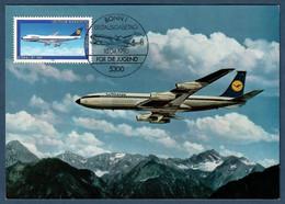BRD 1980  Mi.Nr. 1043 , Für Die Jugend - Boeing 747 - Maximum Card - Erstausgabetag Bonn 10.04.1980 - Maximumkarten (MC)