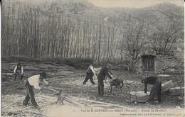 SAINT  GERVAIS SUR MARE  : Atelier Des Cercliers- Fabrication De Lattes De Chataigniers Pour Entourer Lles Tonneaux 1905 - Other Municipalities