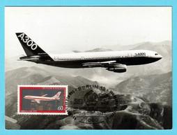BRD 1980  Mi.Nr. 1042 , Für Die Jugend -Airbus A300 - Maximum Card - Ausgabetag SS Berlin  -7.-5.1983 - Maximumkarten (MC)