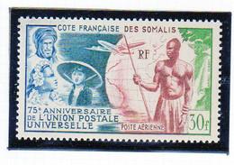 Cote Des Somalis Poste Aerienne 1949 UPU YT 23 Neuf** - Nuovi