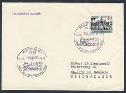 DDR Germany 1989 Brief Cover - 100 Jahre Orlabahn 1889-1989, Pössneck / Railway / Chemin De Fer - Trains
