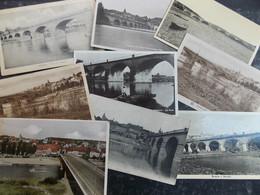 Liquidation!!! LUXEMBOURG Cartes Postales LOT 39/46 REMICH Pont : 9 Cartes - CACHETS Intéressants - Remich