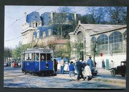 """Carte-photo Moderne """"Tramway De Versailles Devant La Gare Rive-Droite - Années 50"""" - Tram"""