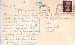 England & Marcofilia, Oddicombe Beach, Babbacombe, South  Devon To Aldershot 1978 (68643) - 1952-.... (Elisabetta II)