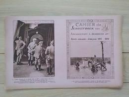 1920 Protège-cahier Schrijfboek Militaria Intérieur Pièce 380 Mm Tirant Sur Dunkerque Patrouille Dans No Mans Land - Guerra 1914-18