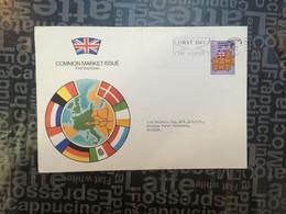 (SIDE LARGE 12-10-2020) UK FDC - Common Market Issue - 1973 - 1952-.... (Elisabetta II)