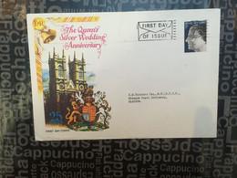 (SIDE LARGE 12-10-2020) UK FDC - Queen's Silver Wedding - 1952-.... (Elisabetta II)