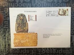 (SIDE LARGE 12-10-2020) UK FDC - Tutankhamen - 1952-.... (Elisabetta II)