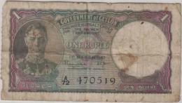 Ceylon (Sri Lanka) - Billet 1 Rupee - Government Of Ceylon - 1 Mars 1947 - Sri Lanka