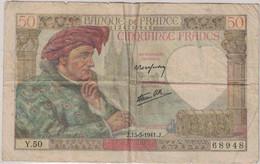 France - Billet 50 Francs - 13 Mars 1941 - 50 F 1940-1942 ''Jacques Coeur''