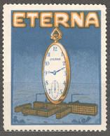 ETERNA Watch Clock Watches FACTORY Industry / Grenchen Switzerland - Cinderella / Label / Vignette - Used - Relojería