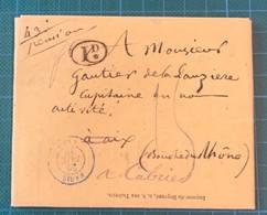 Bouches Du Rhône - Cabries - Lettre De Paris - 1839 - Réclamation De 4 Pages Des Officiers En Non Activité - RARE - Zonder Classificatie