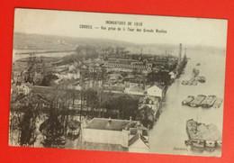 Corbeil. Inondations De Janvier 1910. Vue Prise De La Tour Des Grands Moulins. CPA Non écrite. Ajax Photo. TBE - Corbeil Essonnes