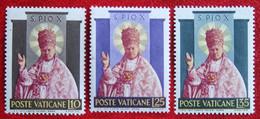 Canonisation De Pie X 1954 Mi 220-222 Yv 200-202 POSTFRIS / MNH / ** VATICANO VATICAN VATICAAN - Unused Stamps