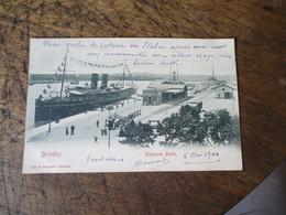 Cpa 1904 Brindisi Stazione Porto Bateau - Brindisi