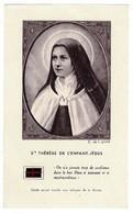 Image , Pieuse, Religieuse Et Canivet. LISIEUX - Ste Thérèse De L'enfant- Jésus, Morceaux étoffe. - Religión & Esoterismo