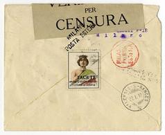 Italien, Censurpost - 1900-44 Victor Emmanuel III