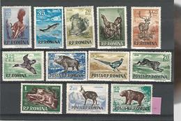 37313 ) Romania 1956 Set Mint Hinged *  Mammals - Nuevos