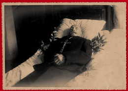 PHOTOGRAPHIE  POST MORTEM   Homme Cm. 17,5X12 - Personas Anónimos