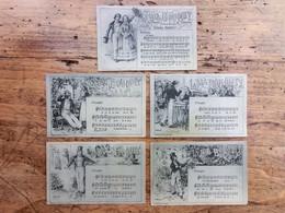 Lot 5 Cartes, Li Bia Bouquet, Air National Namurois, Namur, Paroles Et Musique Bosret, Illustrateur Wagniez - Namur