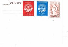2216 CP 1 Entier Cocteau Philex France 1982 Tarif 1,60 F. Avec Vignettes Exposition - Cartoline Postali E Su Commissione Privata TSC (ante 1995)