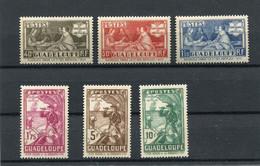 !!! PRIX FIXE : GUADELOUPE, SERIE N°127/132 NEUVE ** - Unused Stamps